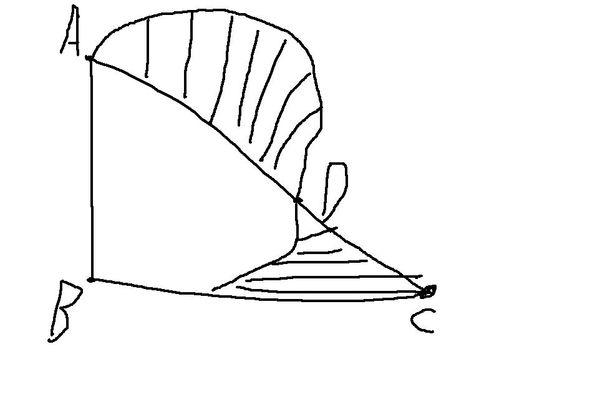 如图,abc是等腰直角三角形,以直角边ab为直径左半圆,与斜边ac交于d且
