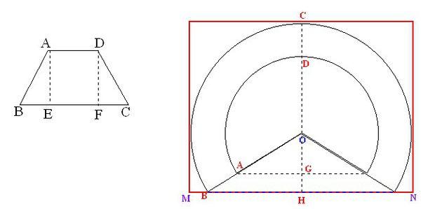 我有一个圆台上底直径480的圆下底直径700的圆圆台高度要210,请问要用