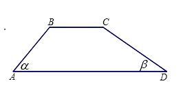 如图,某一拦水坝的横断面为梯形abcd,ad//bc,斜坡ab的图片