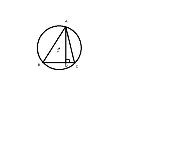 如图,锐角三角形abc的顶点都在圆心o上,ad是bc边上的高,设ab=c,ac=b图片