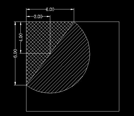 是一个三角形的面积 一个半圆的面积