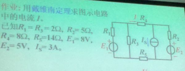 用戴维南定理求图示电路中的电流i