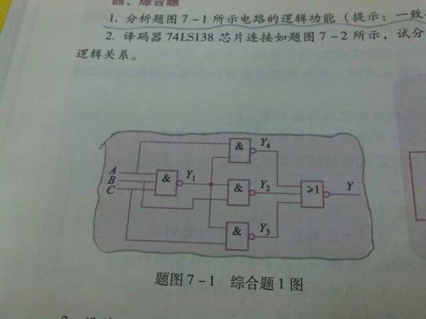 分析所示电路的逻辑功能