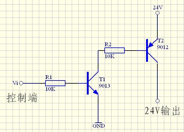 5v控制24v电路_如何通过三级管让5V电压控制24V电压,在24V电路中串联着二极管 ...