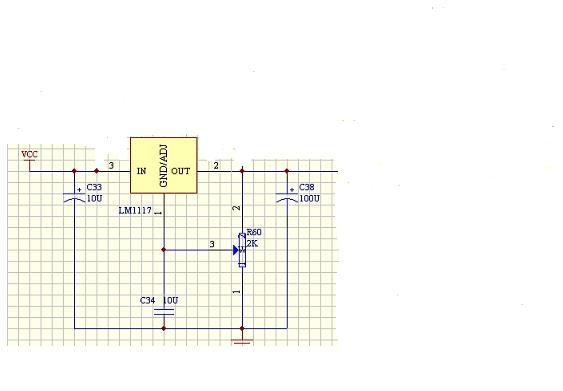 用lm1117-adj做 6v稳压电路中电阻分别是多少?急……!