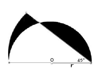 如图 半圆o的半径为r,求图形中阴影部分的面积 结果用