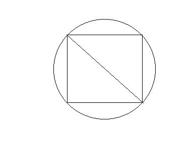 在一个直径是4分米的圆形铁皮中间,剪一个最大的正方形.