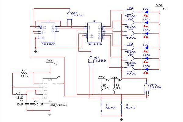 汽车尾灯设计的电路图啊设计构成一个控制汽车六个的