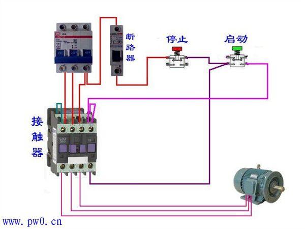 三相电机控制接线图解_单相电机接线图解_3线风扇电机接线图解