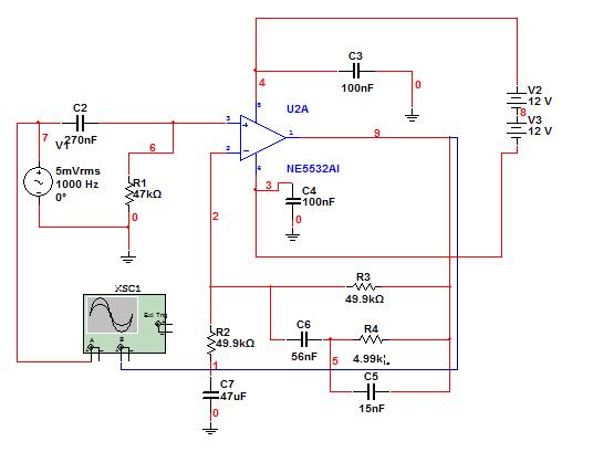 ne5532的这个电路怎么计算放大倍数?