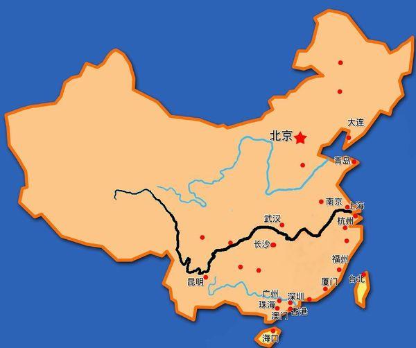 中国河流地图 高清_求一张比较高清且结构简单的中国长江地图 - 微思作业本