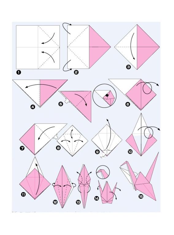 叠千纸鹤怎么叠法