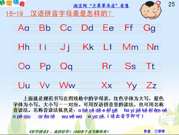 26个英文字母书写格式与汉语拼音书写格式有什么不同图片
