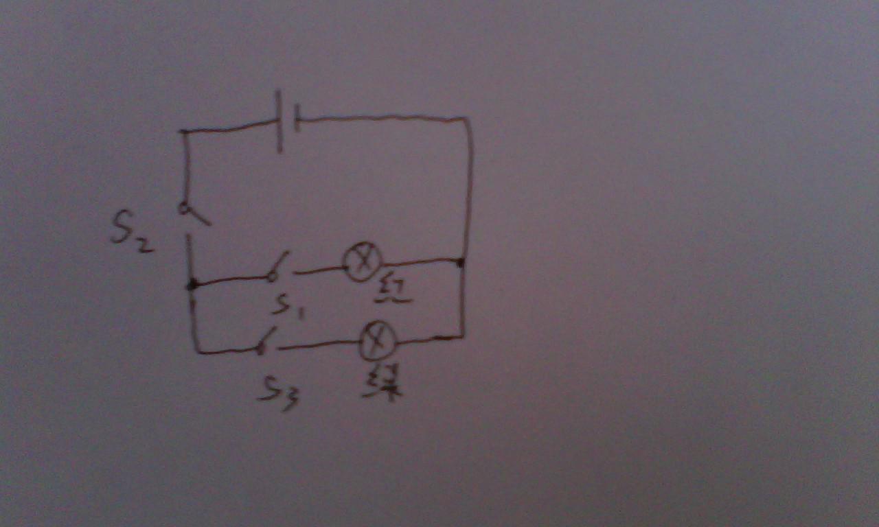 解题思路: 考察串联并联电路特点的掌握情况,以及电路图的设计能力.