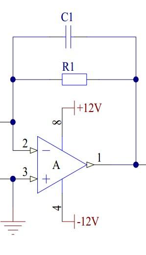 有源滤波器电路r1,c1作用以及如何分析?