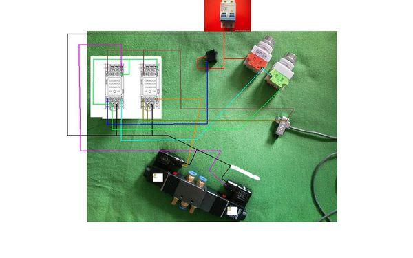 开关控制气缸接线图
