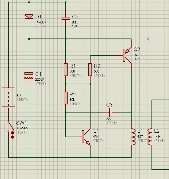 c3好像是反馈电路,使q1截止,q2截止,l1电流中断,l2输出消失.