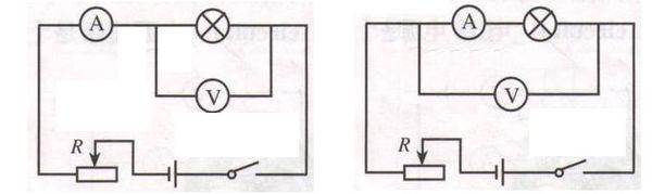 如电压表外接,电流表内接