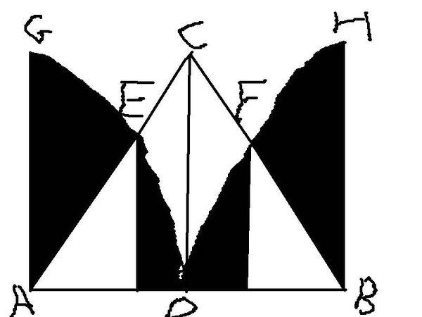 三角形abc为等腰直角三角形,角acb是直角,d是ab的中点