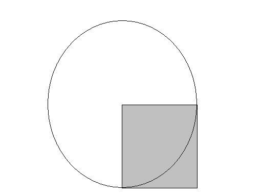 已知正方形的面积是10平方厘米,求圆的面积