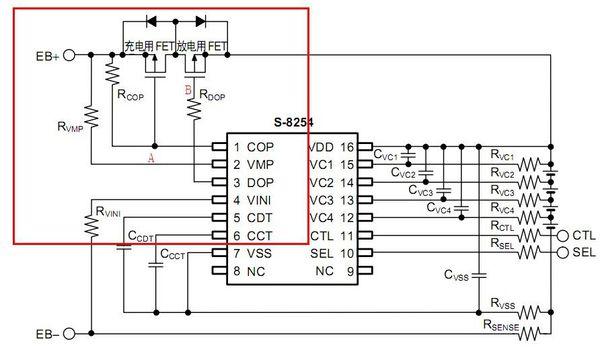 mos管开关电路以上我是从网上下载的的s8254芯片的标准电路图,我有些